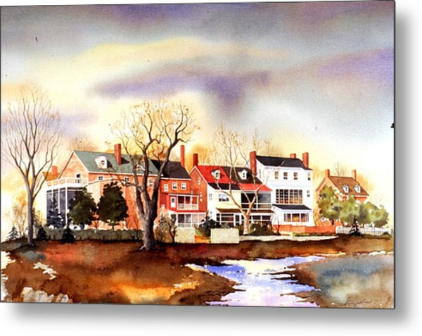 Behind The Strand In New Castle Metal Print