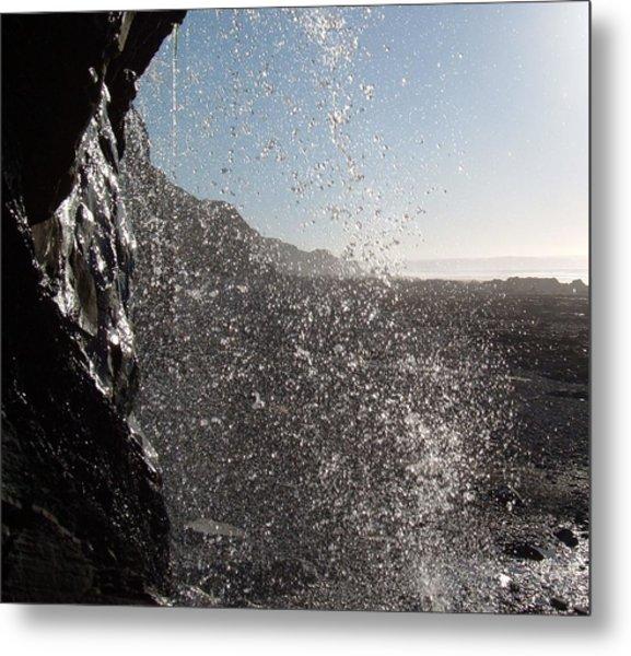Behind The Waterfall Metal Print