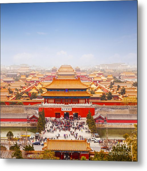 Beijing Forbidden City Skyline Metal Print