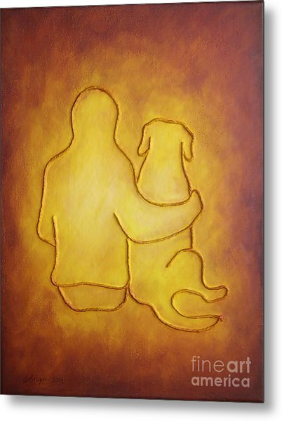 Being There 2 - Dog And Friend Metal Print