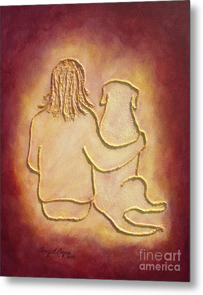 Being There 3 - Dog And Friend Metal Print