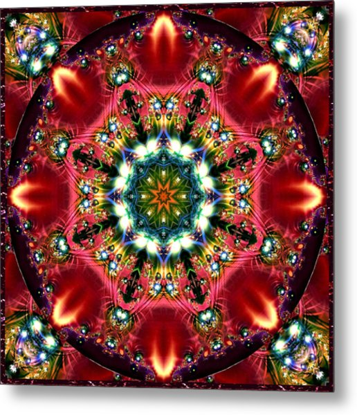 Bejewelled Mandala No 2 Metal Print