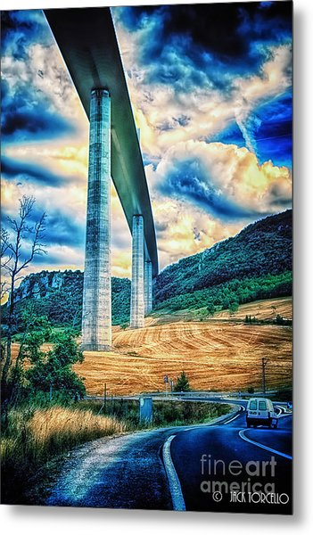 Beleau Millau Viaduct France Metal Print