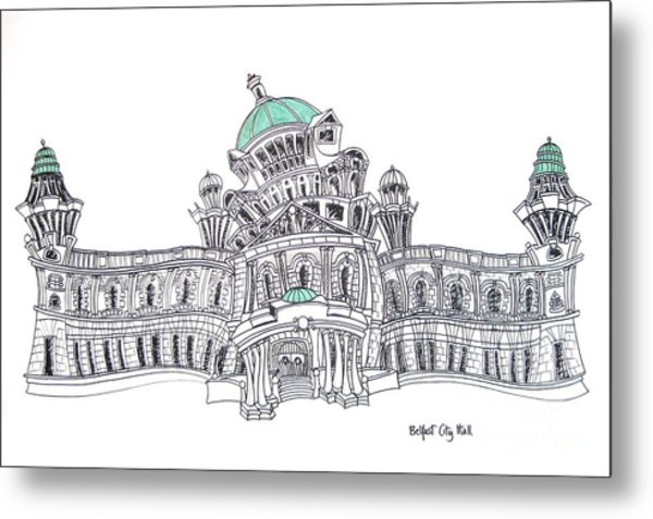 Belfast City Hall Belfast Metal Print by Tanya Mai Johnston