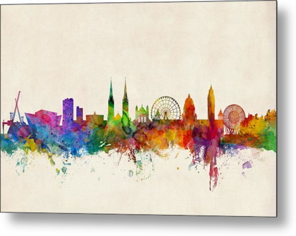 Belfast Northern Ireland Skyline Metal Print