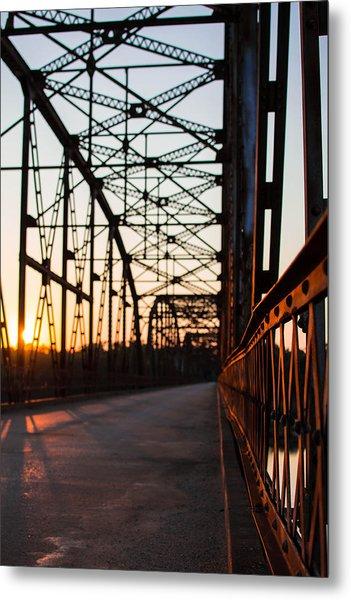 Belford Bridge At Sunset Metal Print