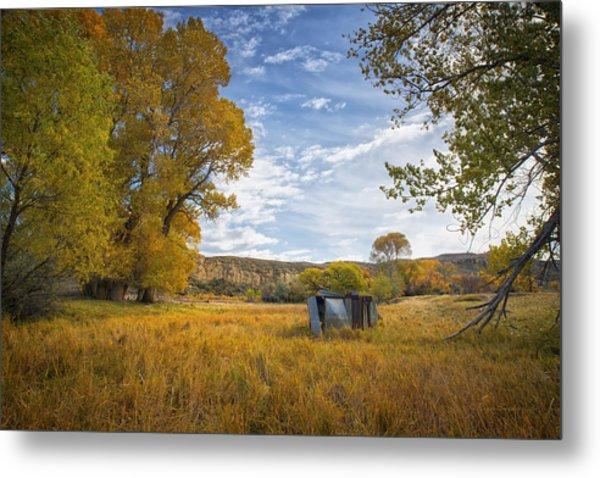 Belfry Fall Landscape Metal Print