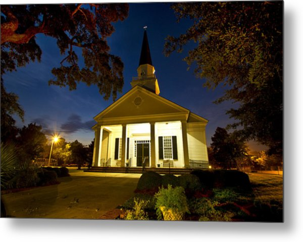 Belin Memorial Umc After Dark Metal Print