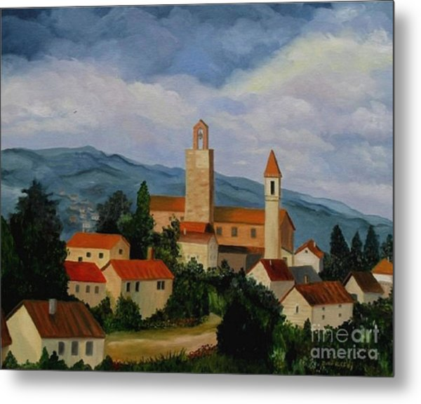 Bell Tower Of Vinci Metal Print