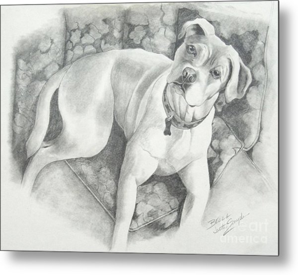Bella My Pup Metal Print