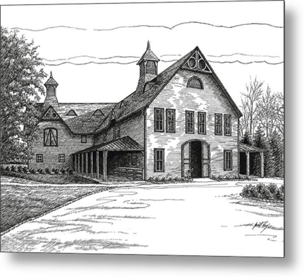 Belle Meade Plantation Carriage House Metal Print