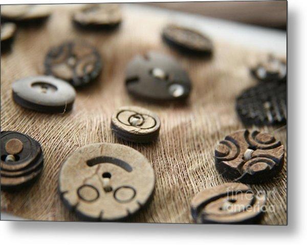 Beloved Buttons  Metal Print