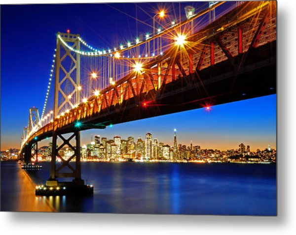 Below The Bay Bridge And San Francisco Skyline Metal Print
