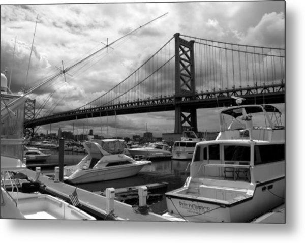 Ben Franklin Bridge Metal Print