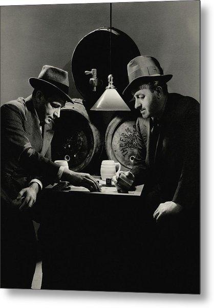 Ben Hecht And Charles Macarthur Playing Metal Print