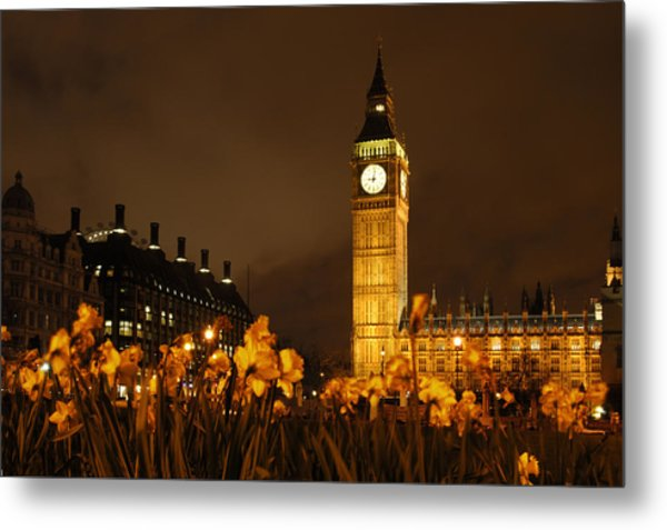 Ben With Flowers Metal Print