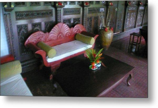 Bench In Bali Metal Print by Jack Edson Adams