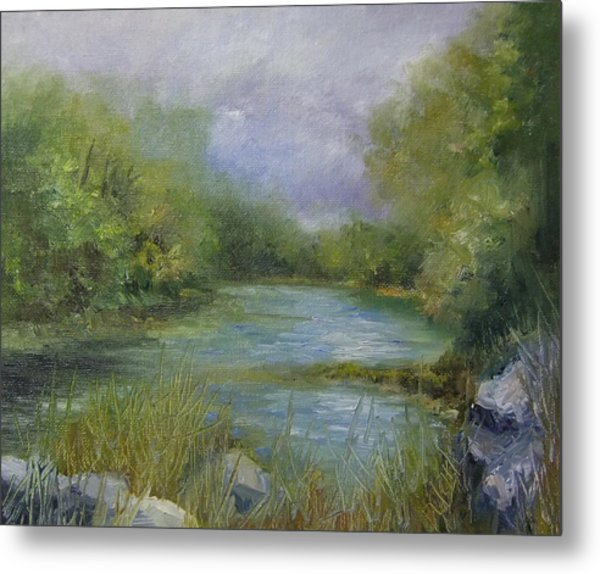 Bend In The River Metal Print by Donna Pierce-Clark