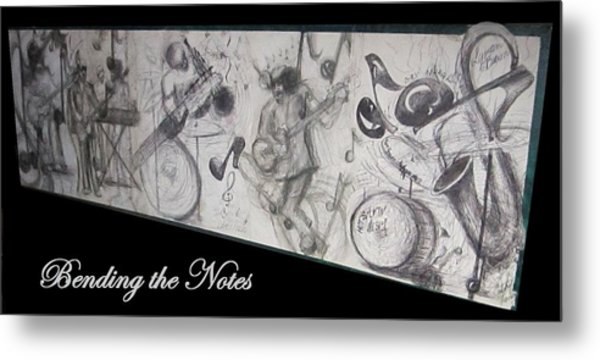 Bending The Notes Metal Print