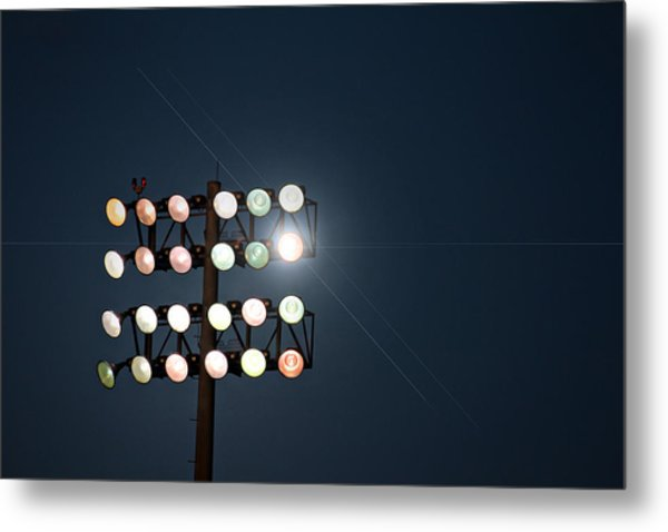 Beneath Friday Night Lights Metal Print