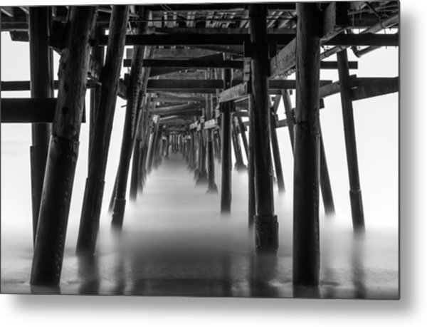 Beneath The Pier Metal Print