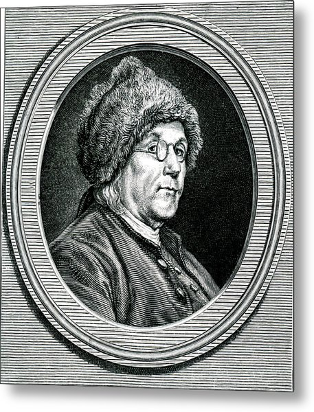 Benjamin Franklin Metal Print by Collection Abecasis