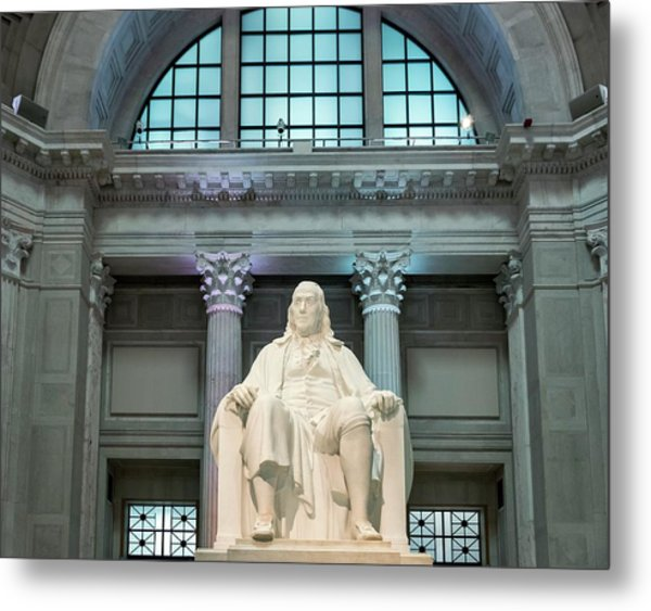 Benjamin Franklin Metal Print by John Greim/science Photo Library