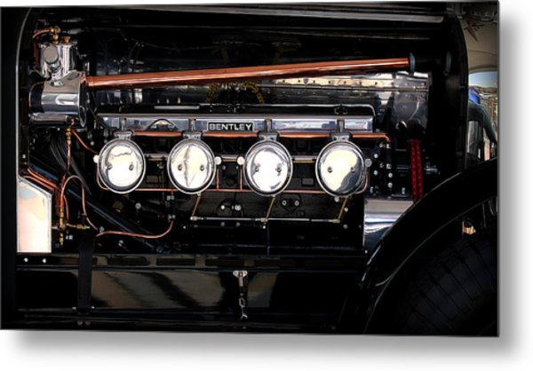 Bentley Engine Metal Print by Radoslav Nedelchev