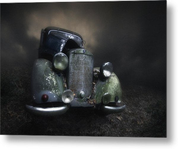 Benz Metal Print by Holger Droste