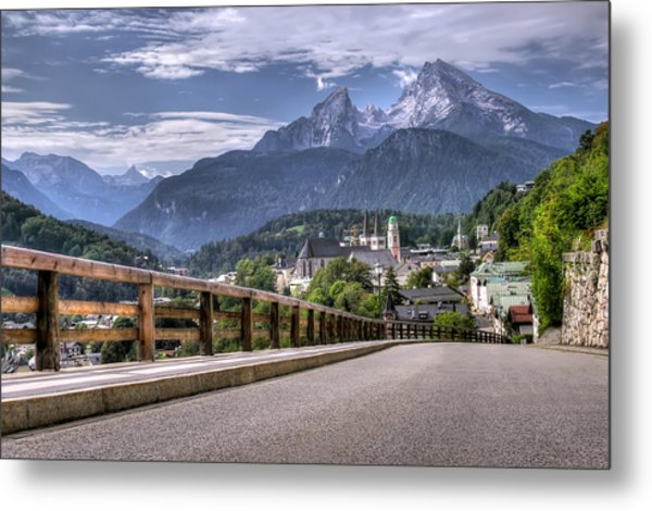 Berchtesgaden Road And Mountain Metal Print by Ioan Panaite