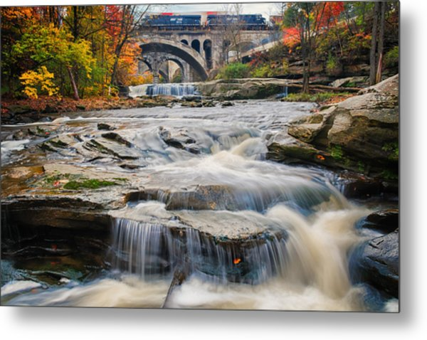 Berea Waterfalls In Autumn Metal Print