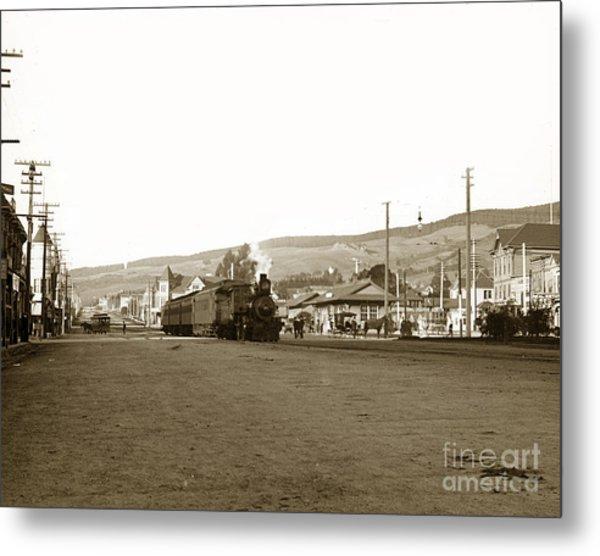 Berkeley California Train Station Circa 1902 Metal Print