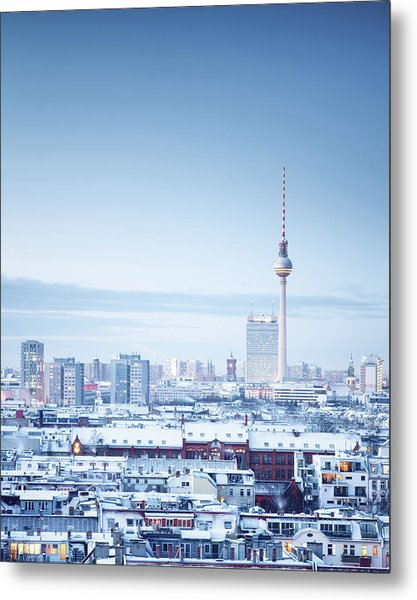 Berlin Winter Cityscape Metal Print by Spreephoto.de