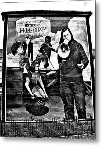 Bernadette Devlin Mural 2 Metal Print