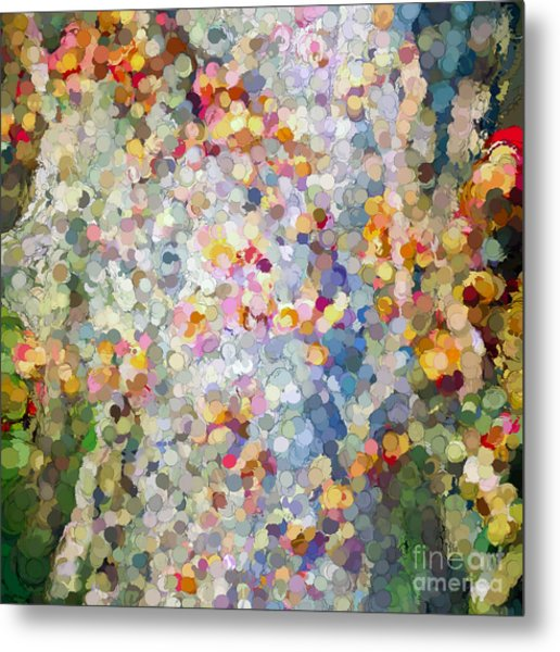 Berries Around The Tree - Abstract Art Metal Print