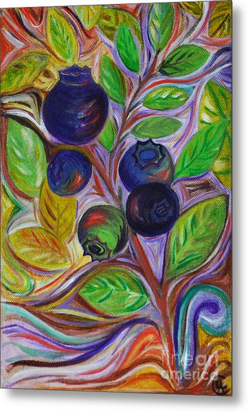 Berry Bush Metal Print