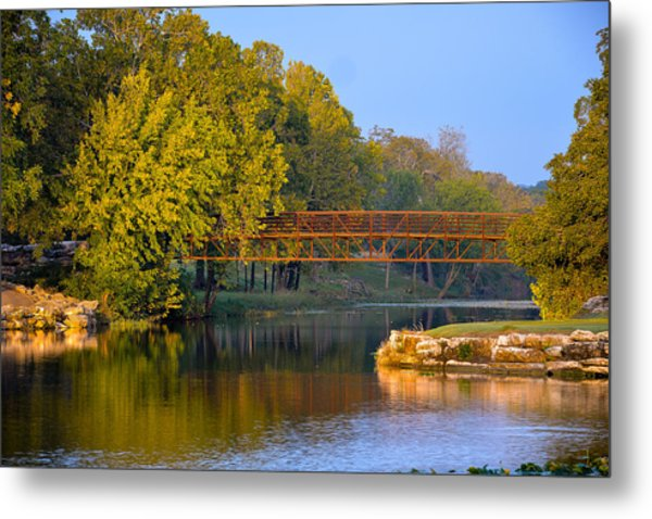 Berry Creek Bridge Metal Print