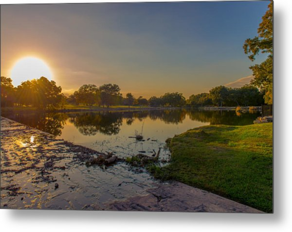 Berry Creek Sun Set Metal Print