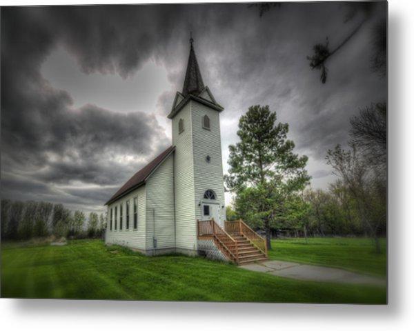 Bethany Prairie Church Metal Print by David Foster