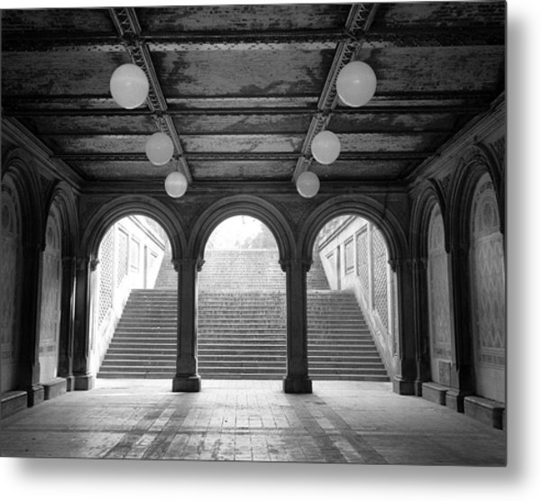 Metal Print featuring the photograph Bethesda Passage Central Park by Dave Beckerman