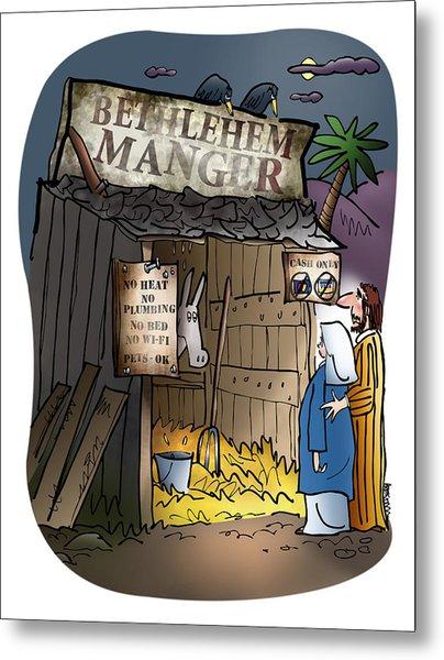 Bethlehem Manger Metal Print