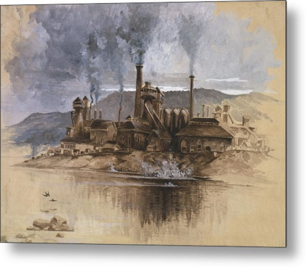 Bethlehem Steel Corporation Circa 1881 Metal Print