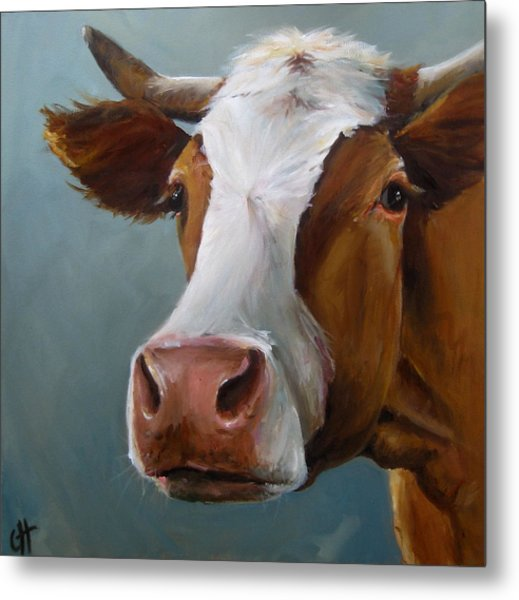 Betsy The Cow Metal Print by Cari Humphry