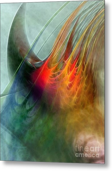 Between Heaven And Earth-abstract Metal Print