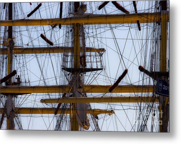 Between Masts And Ropes Metal Print