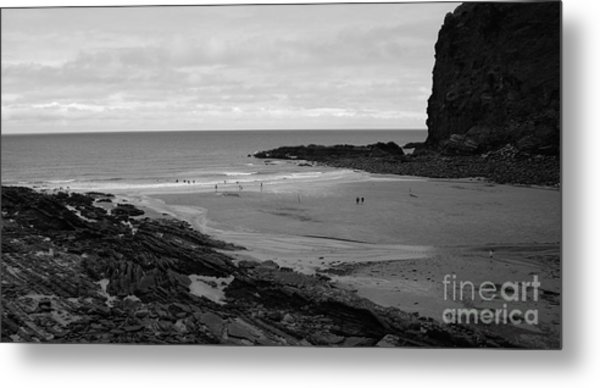 Between Rock And A Hard Place Metal Print by Malcolm Suttle