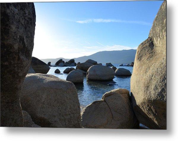 Between The Rocks At Lake Tahoe Metal Print