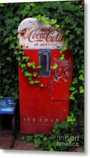 Austin Texas - Coca Cola Vending Machine - Luther Fine Art Metal Print