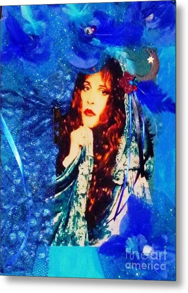 Bewitched In Blue Metal Print