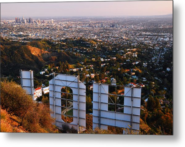 Beyond Hollywood Metal Print